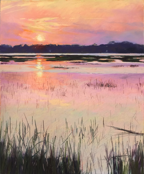 Sunset Marsh Pastel 13x16 975 WEB
