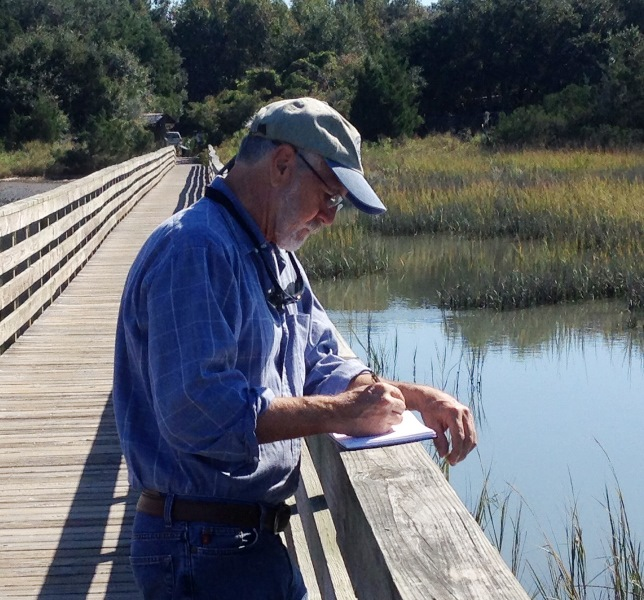 Daniel Ambrose sketching at Huntington Beach State Park Pawleys Island SC WEBSITE