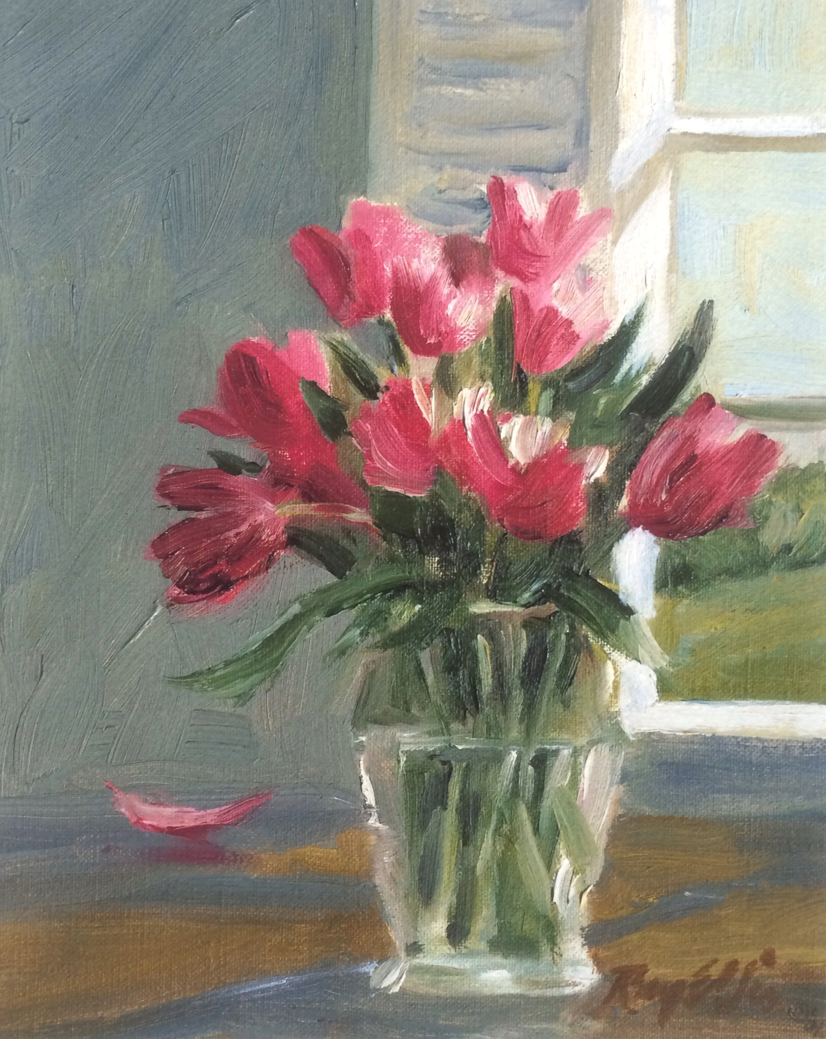 Pink Tulips by Ray Ellis lim ed giclee