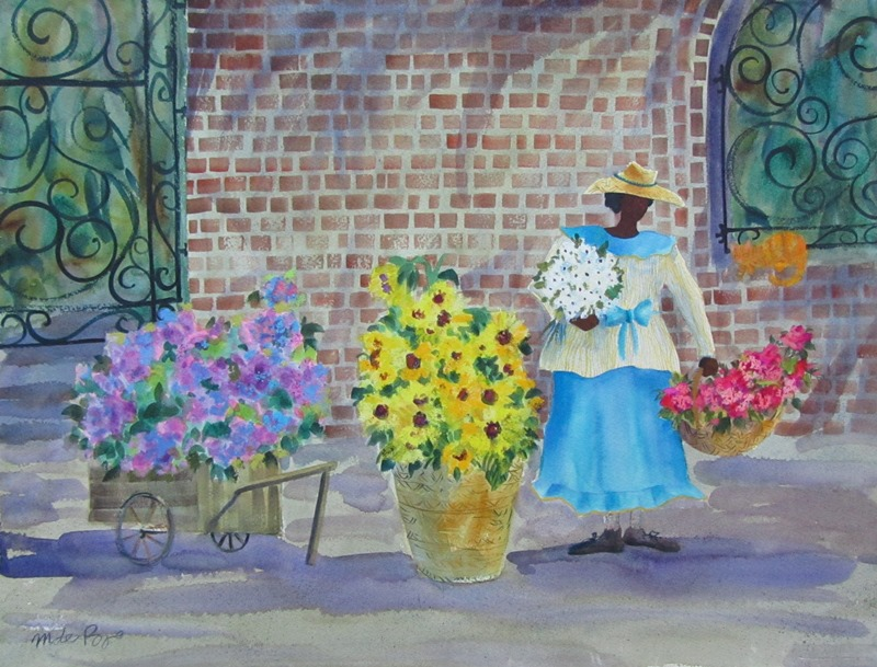dePoo Charleston Flower Lady 22x16 2400 WEB